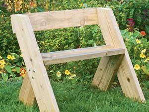 Banc de jardin en bois (tuto gratuit DIY) | bricolage | Leopold ...
