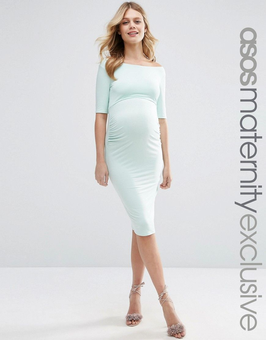Asosmaternitybardotdresswithhalfsleeve my style discover the latest maternity clothing to arrive at asos shop for the newest maternity dresses lingerie and clothing ombrellifo Image collections