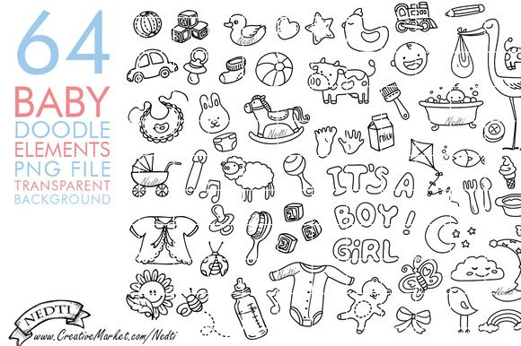 Pin By Angie Strupp Early On Doodles Doodles Baby Clip