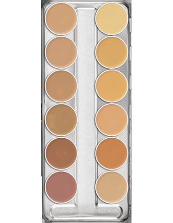 Dermacolor Camouflage Creme Palette 12 Colors Kryolan