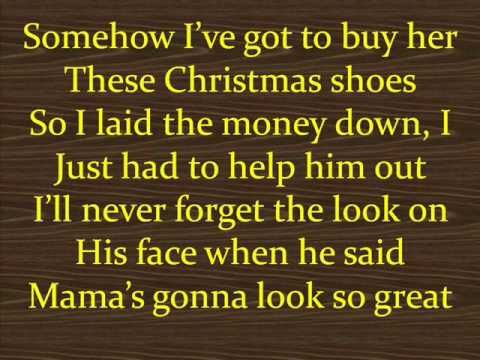 Christmas Shoes Lyrics.The Christmas Shoes I Absolutely Love This Song Even Though
