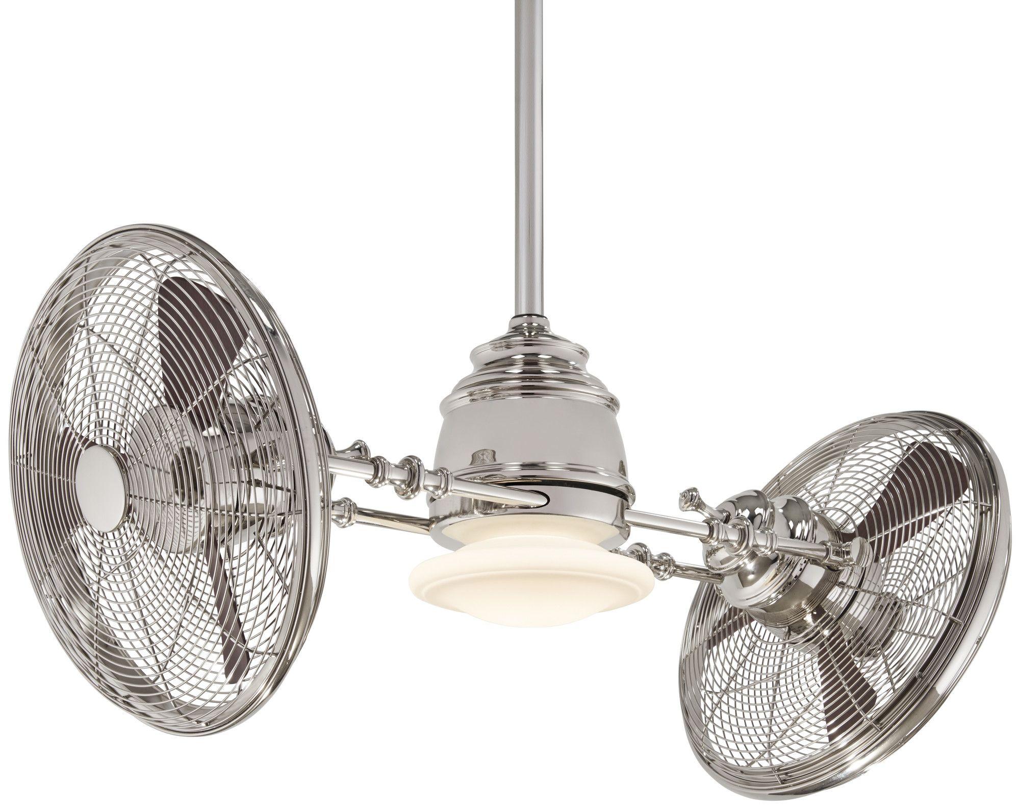 "42"" Vintage Gyro 3 Blade LED Ceiling Fan"