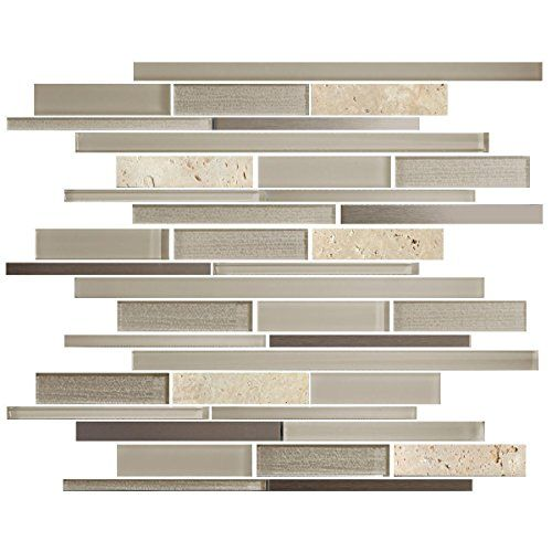 11 Sheets / Box - 8mm Thickness Glass and Stone Blend Str ...