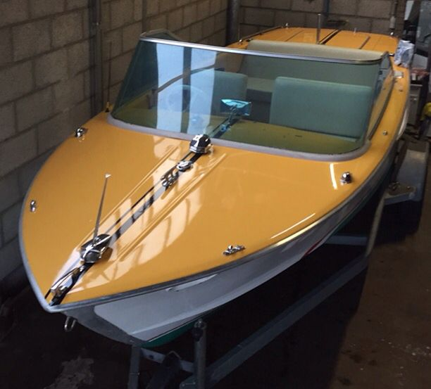 Alumaboot Slibermowe 1972 OMC Sterndrive 225hp Classic Boat Guggisberg Aluminum Runabout