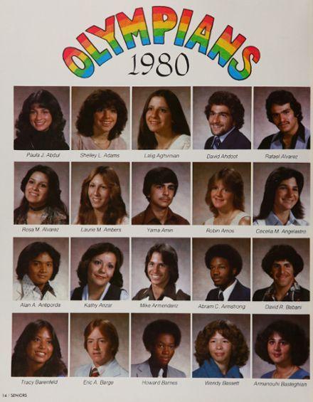 Paula Abduls Senior Year Yearbook 1980 Van Nuys High School I Love The 80s 3