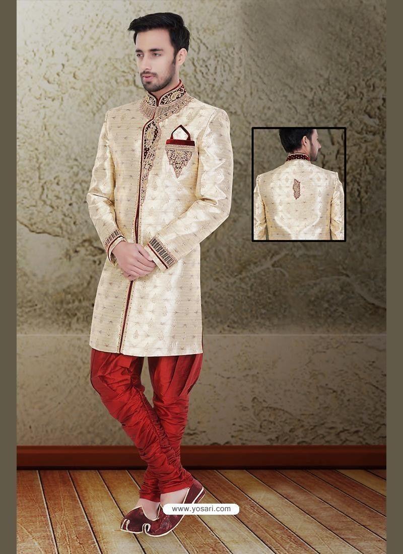 Dashing brown churidar sherwani model yoshv sherwani