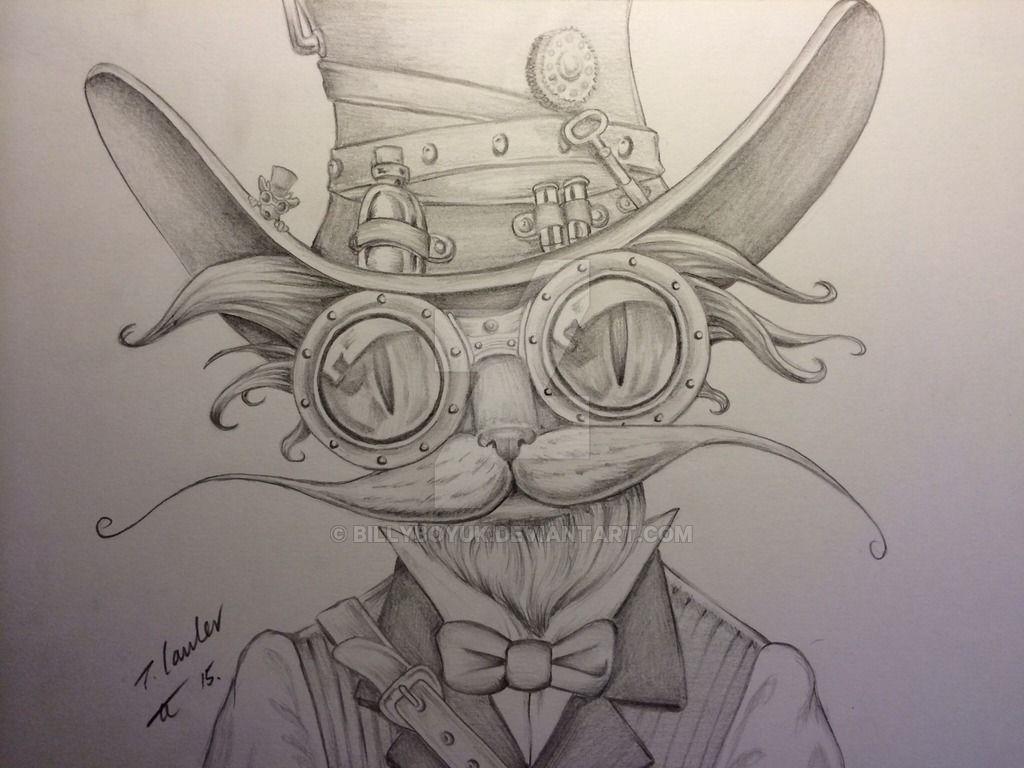 Resultado de imagem para steampunk animals drawing | Ilustraciones ...