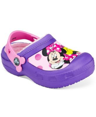 Toddler Girls' Lined Minnie Mouse Clogs
