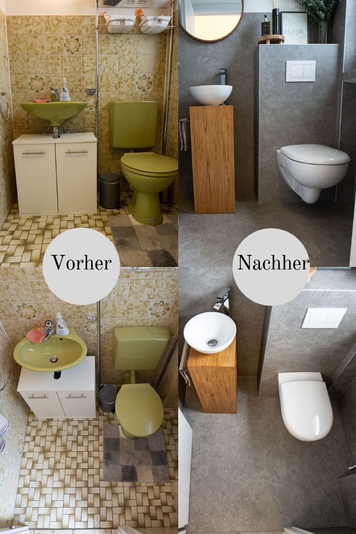 Gäste WC neu gestalten – Vinylboden an Wände kleben