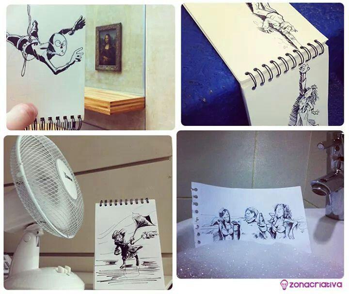 #desenho interagindo com o ambiente...