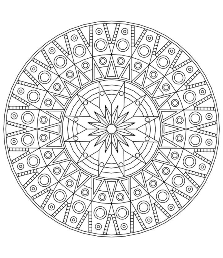 Art Therapy Mandala Coloring Books Detailed Coloring Pages Mandala Coloring Pages