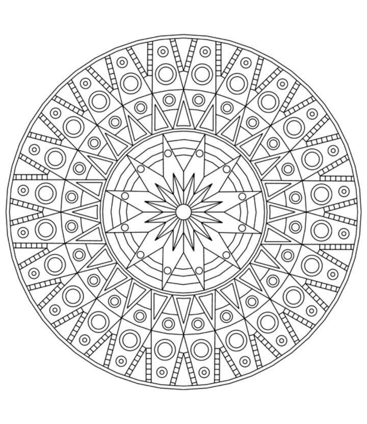 Art Therapy Mandalas Circulares, Mandalas Para Colorear Dificiles,  Mandalas Para Colorear