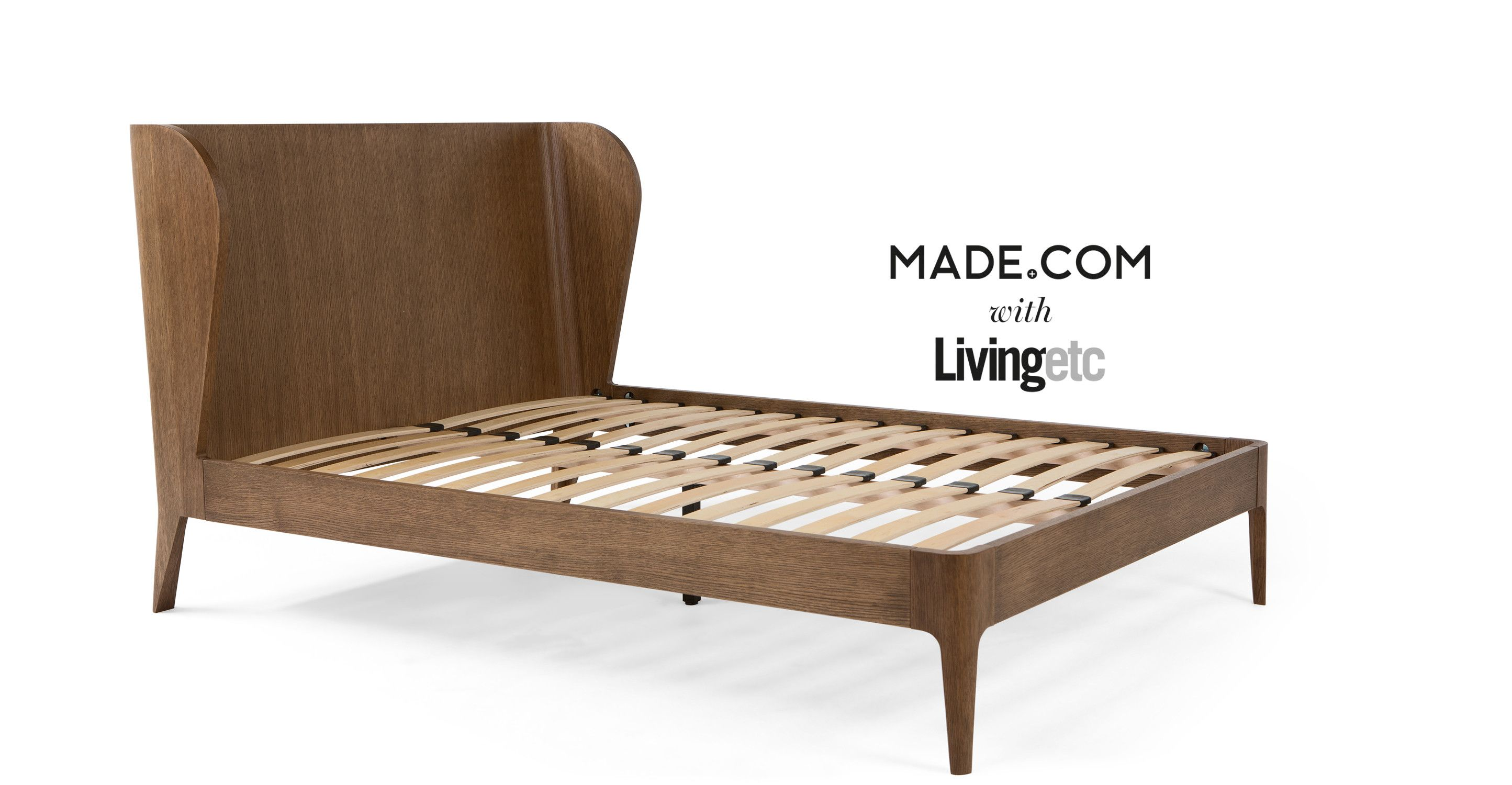 Belgrave King Size Bed, Dark Stained Oak from Made.com. Dark Wood ...