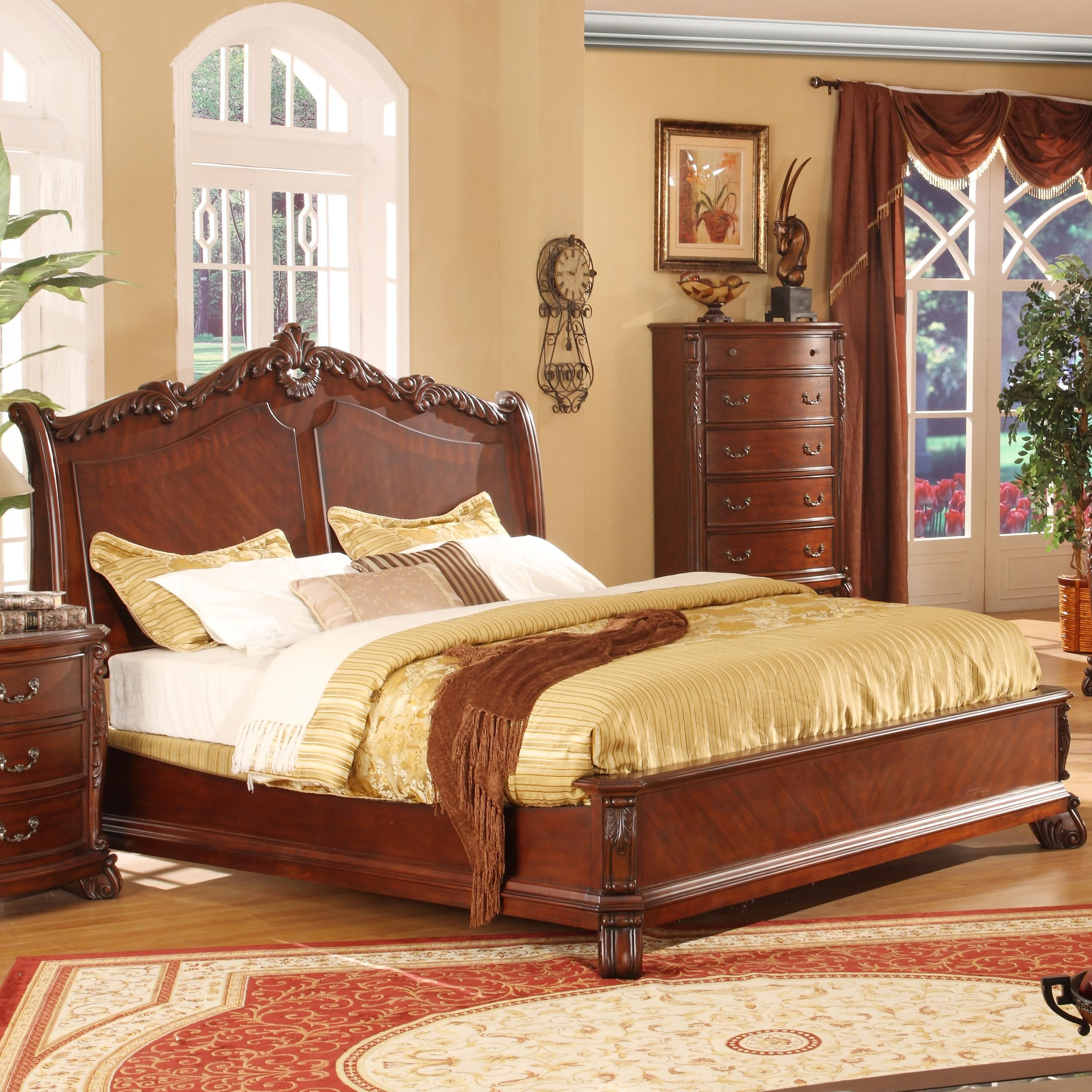 9642 queen panel bed by lifestyle