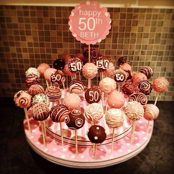 50th birthday cakepops #moms50thbirthday 50th birthday cakepops #moms50thbirthday