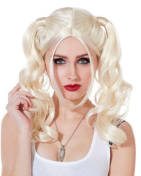 Blonde Pigtail Wig Halloween 46