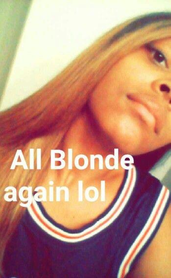 All blonde again!!
