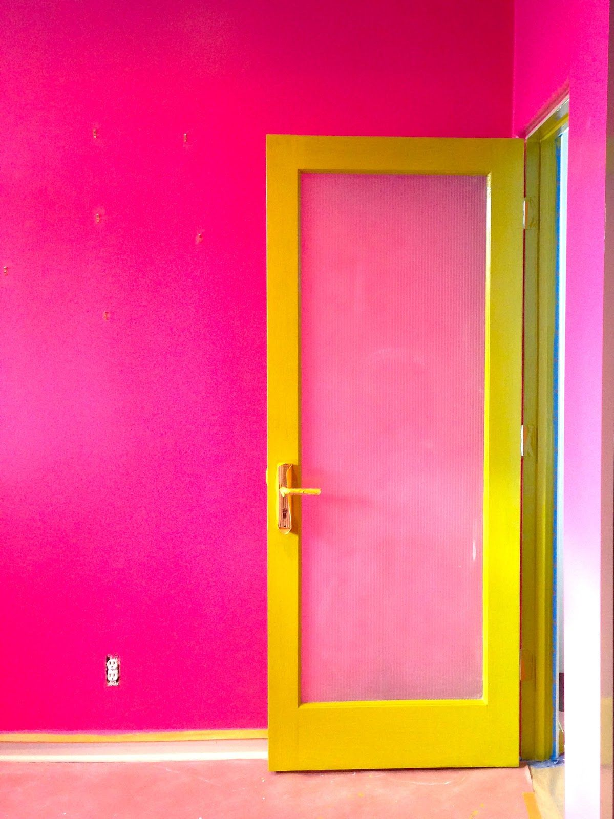 SPLOG-Love this hot pink and limey-yellow | Exterior Color Ideas ...