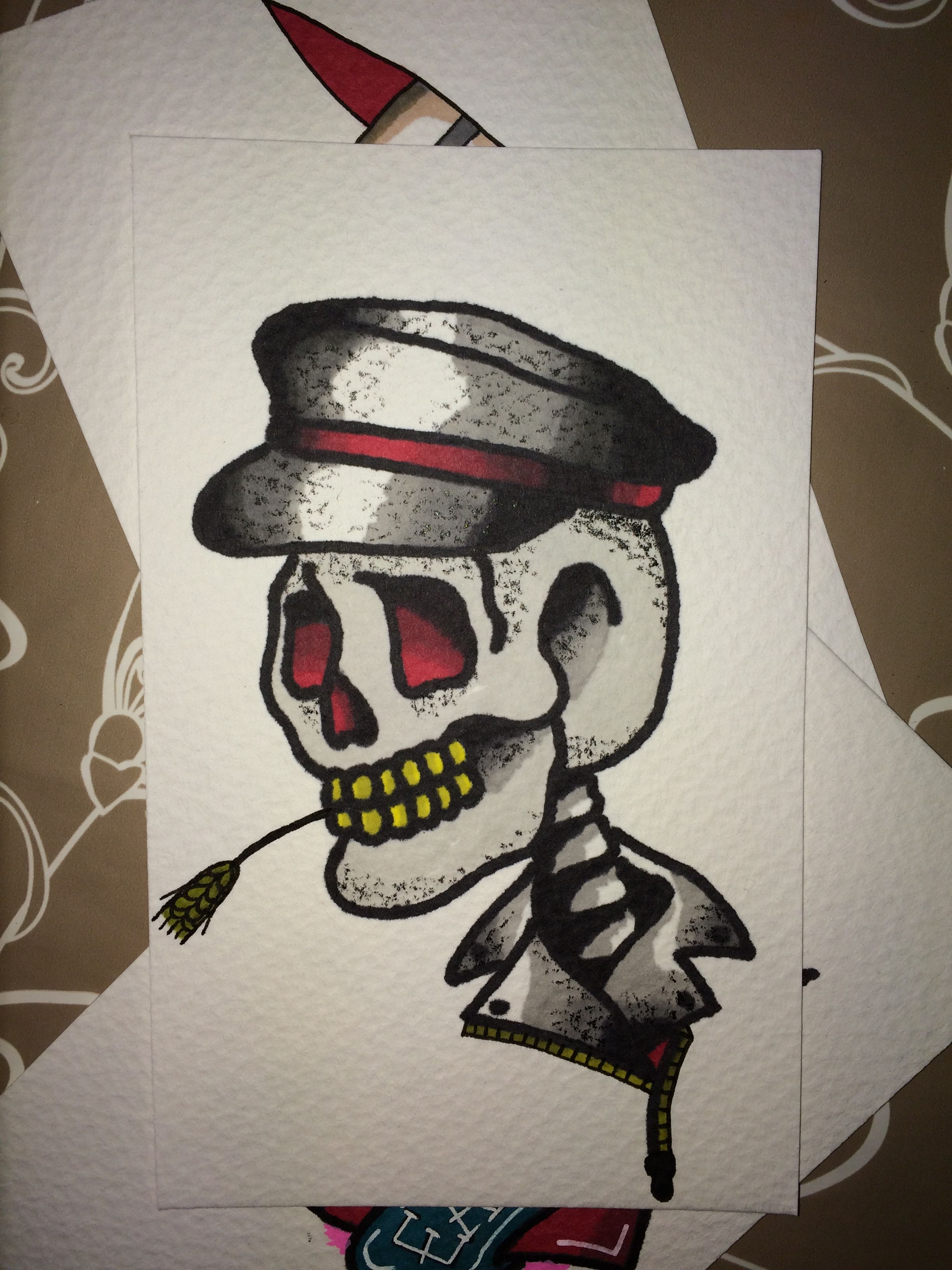 Traditional Skull Tattoo Flash Traditional Tattoo Art Flash Tattoo Sailor Jerry Tattoo Flash