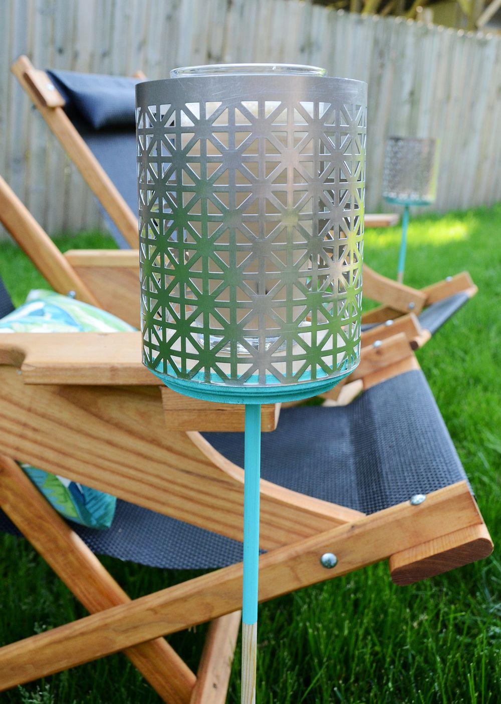DIY Backyard Drink Holders - How-To: Easy DIY Backyard Drink Holder Crafty Crafts Pinterest