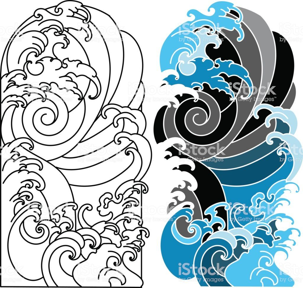 Japanese Background Tattoo Japanese Tattoo Background Tattoo Background Japanese Wave Tattoos Waves Tattoo