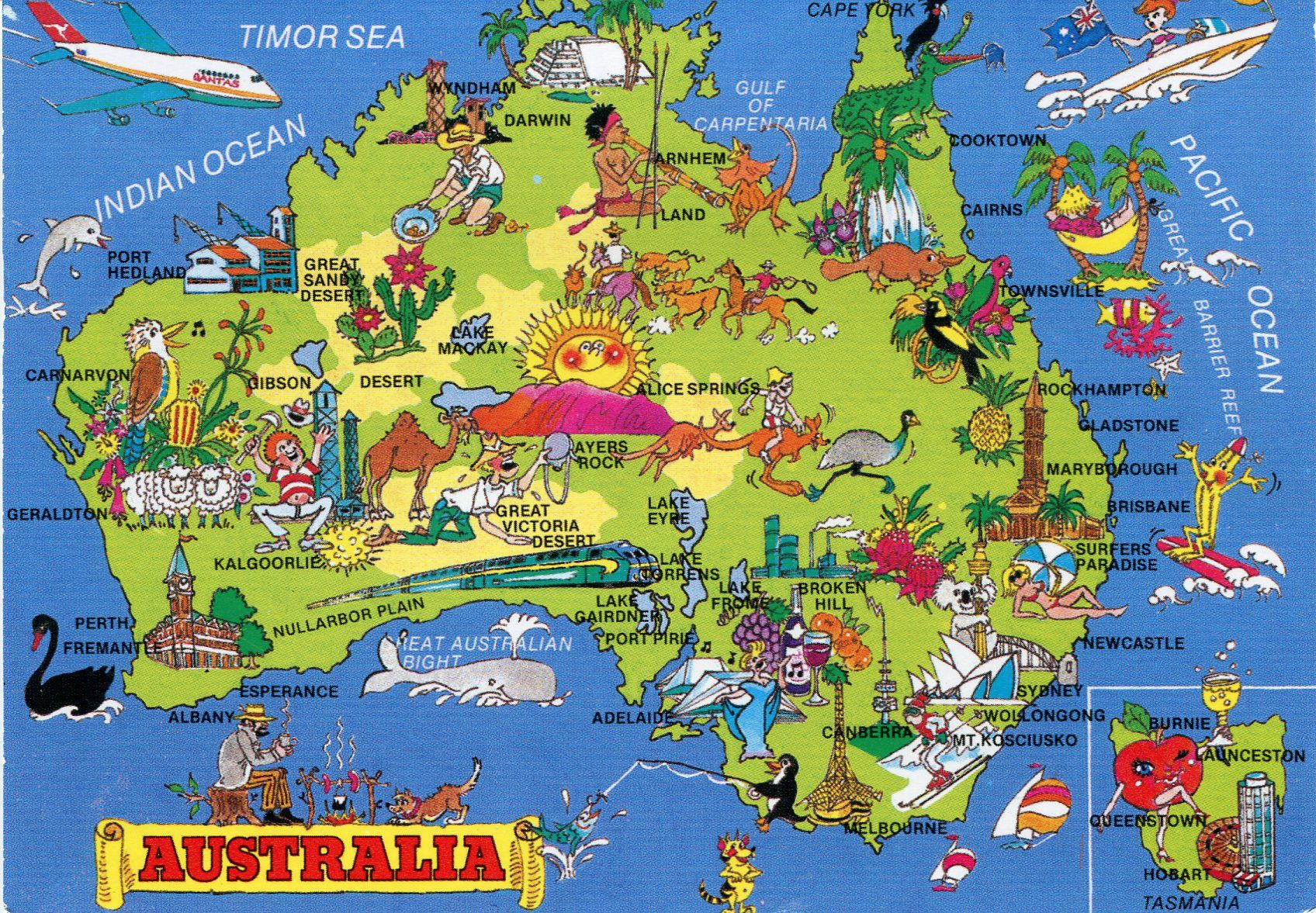 Australia is a country famous for its natural beauty and is one of – Australian Tourist Attractions Map