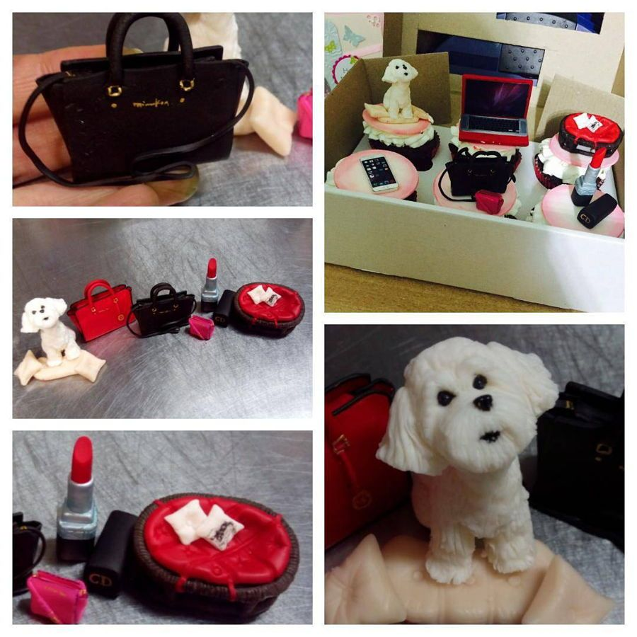 Capcake For Fashion Girl On Rad  on Cake Central. little dog, fashiob bag, capcake for girl, capcake for wooman