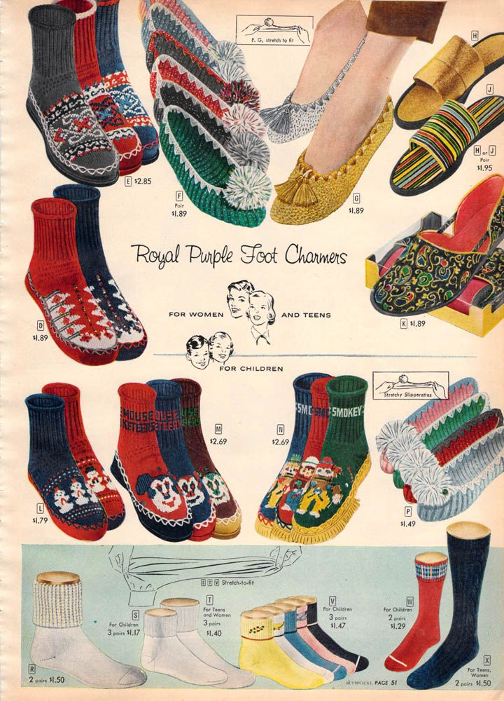 18c823ecddf09 slipper socks from 1956 Sears Christmas Book   fondly remembered 2 ...