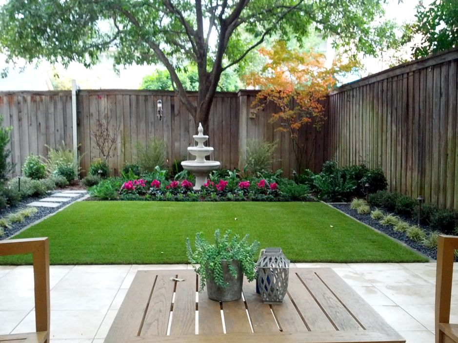 Fake turf victoria texas landscape design backyard for Designing with grasses