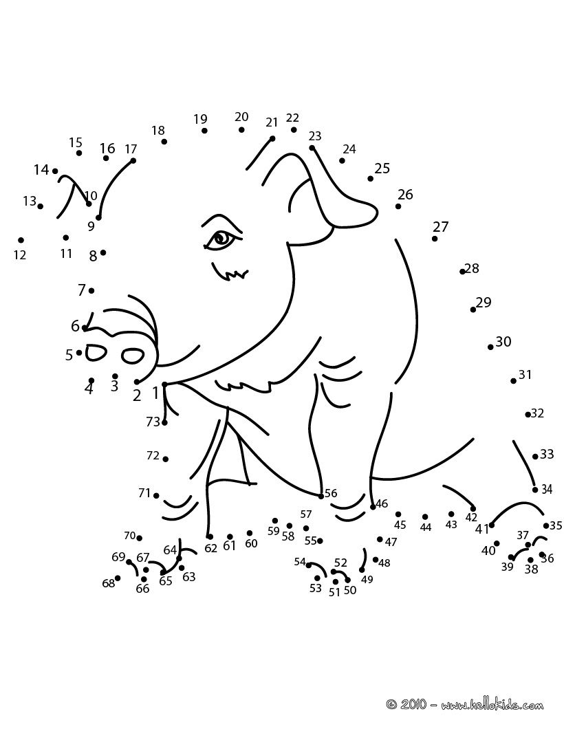 Animals Dot To Dot Pig Dot To Dot Game Dots Game Free Online Coloring Connect The Dots Game