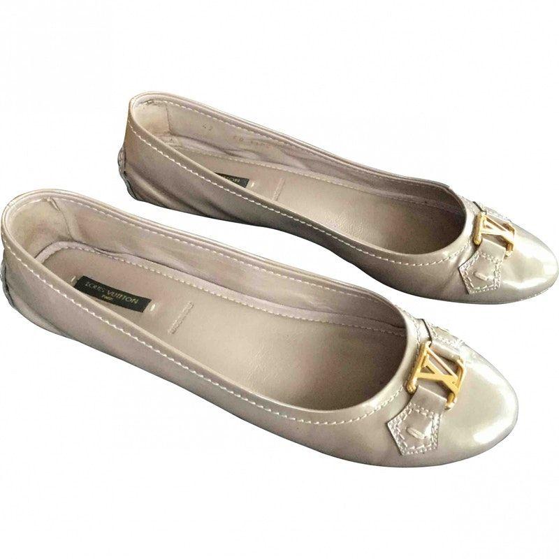 35fd8da1b17d beige Plain Patent leather LOUIS VUITTON Ballet flats - Vestiaire Collective