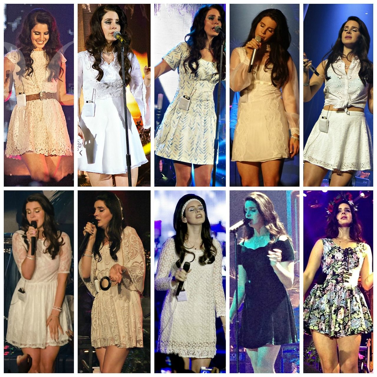 Lana Del Rey Performing Collage In White And Black Dresses Lana Del Rey Outfits Lana Del Rey Pretty Outfits