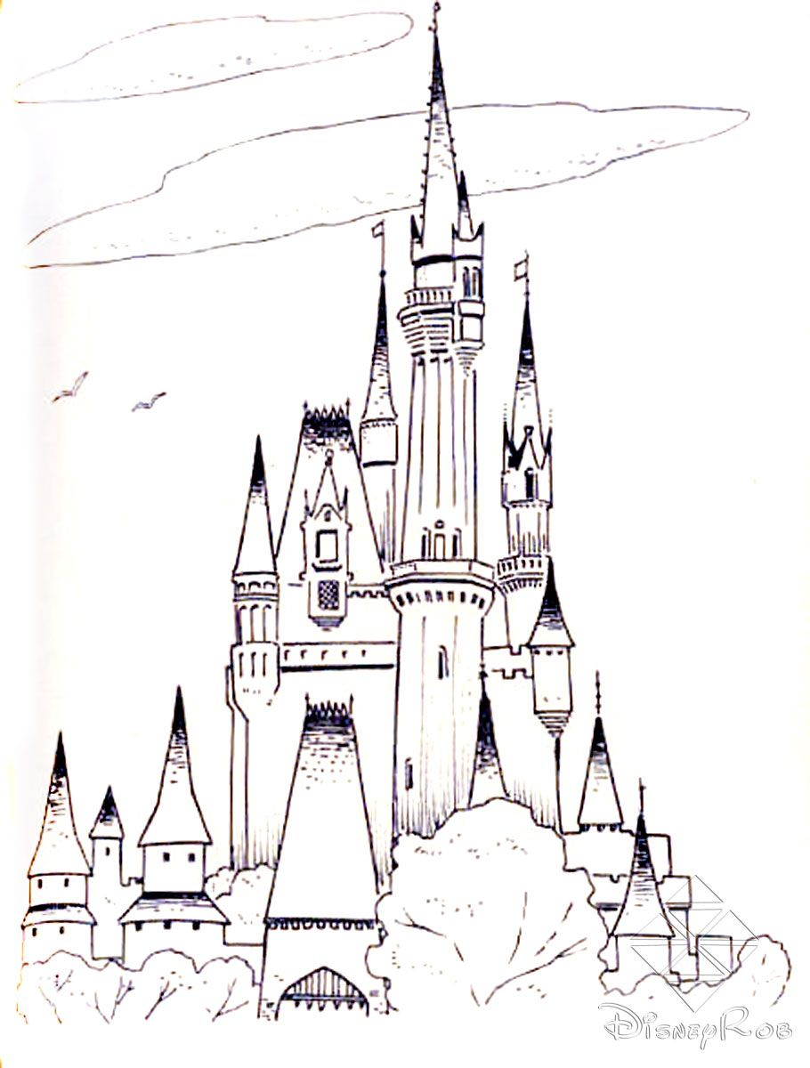 frozen cinderella castle free printable castle coloring pages
