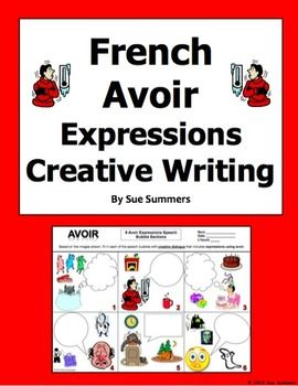 french avoir expressions creative writing activity worksheet creative writing worksheets and. Black Bedroom Furniture Sets. Home Design Ideas