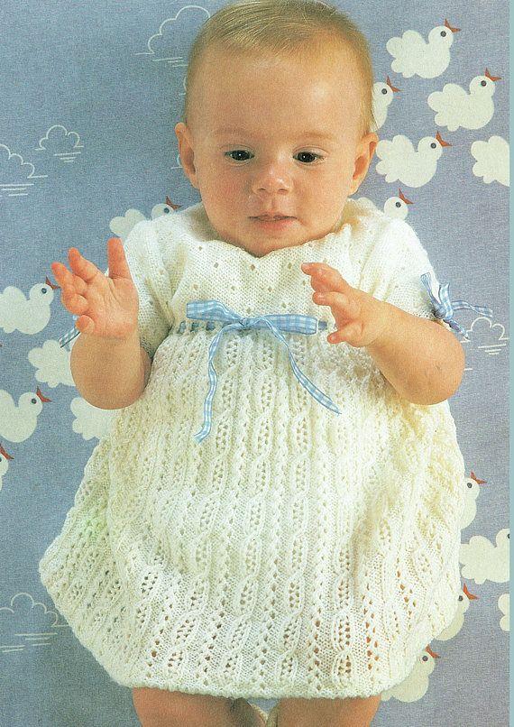 PDF Pretty Baby Knitting Pattern Heirloom Dress & Cross ...