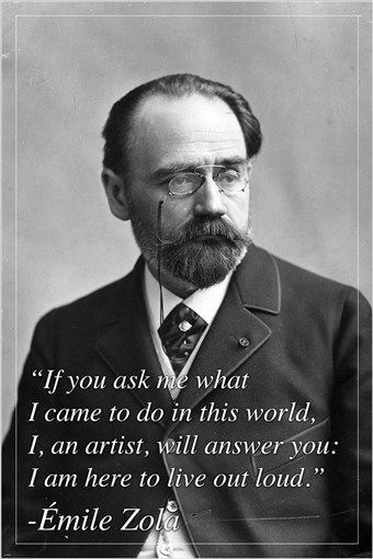 EMILE ZOLA french author INSPIRATIONAL MOTIVATIONAL quote poster 24X36