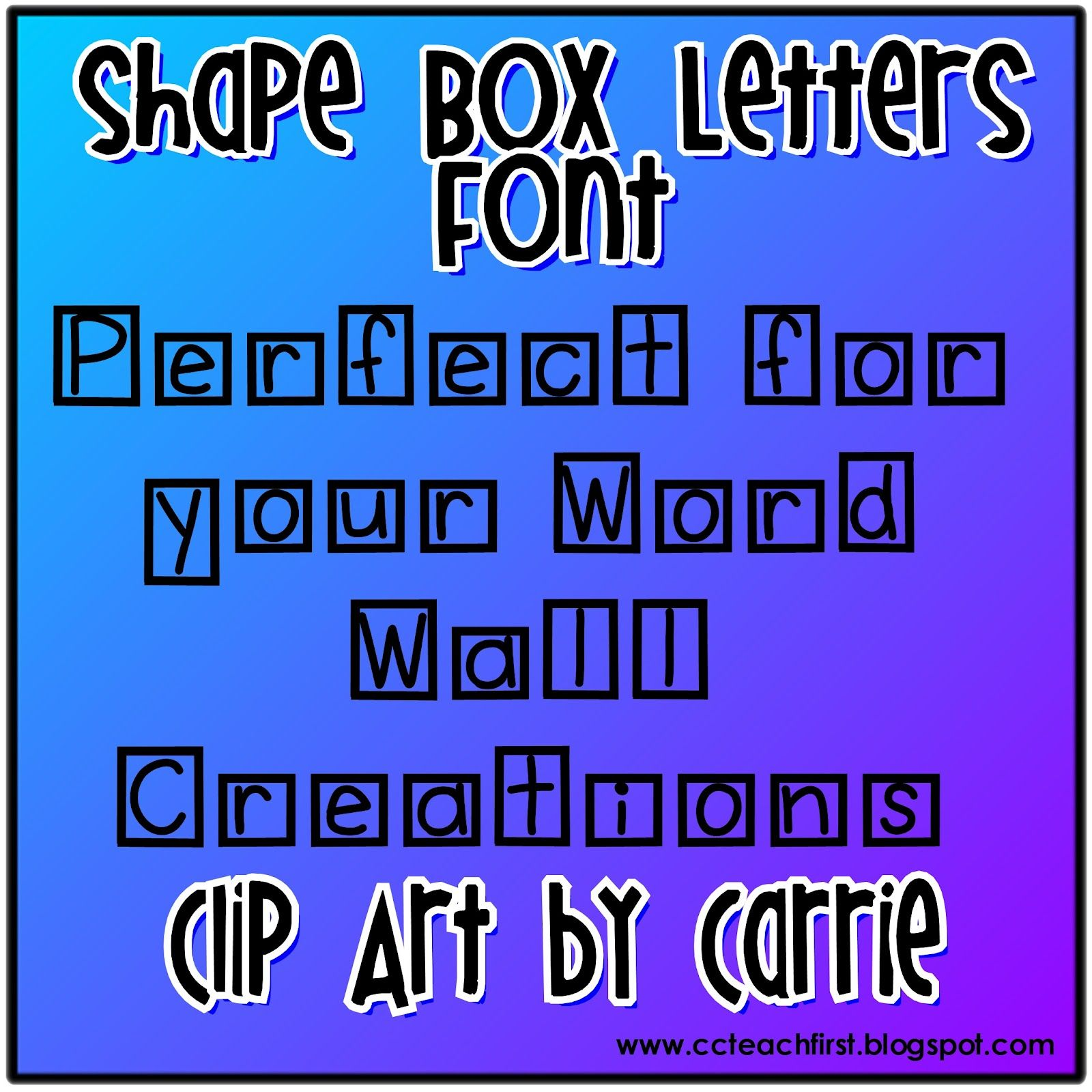 Shape Box Letter Font By Clip Art By Carrie  Tpt Clipart