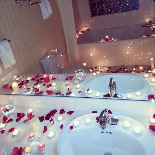Create a romantic bathroom scene this Valentine's Day with ...