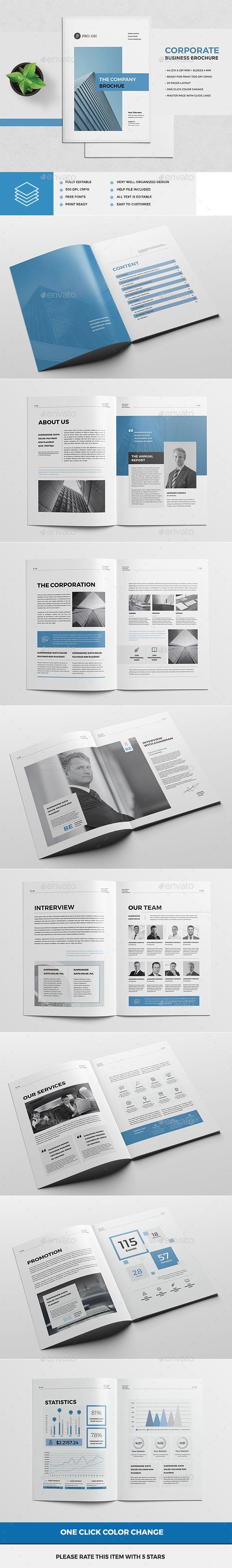 Company Profile Brochure Template InDesign INDD | design | Pinterest