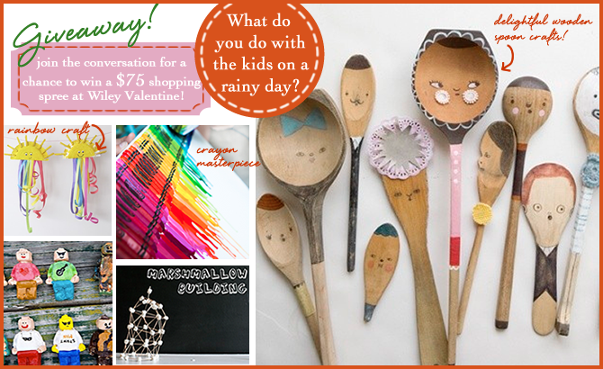 Rainy day activities to do with the kids, including the crayon masterpiece!