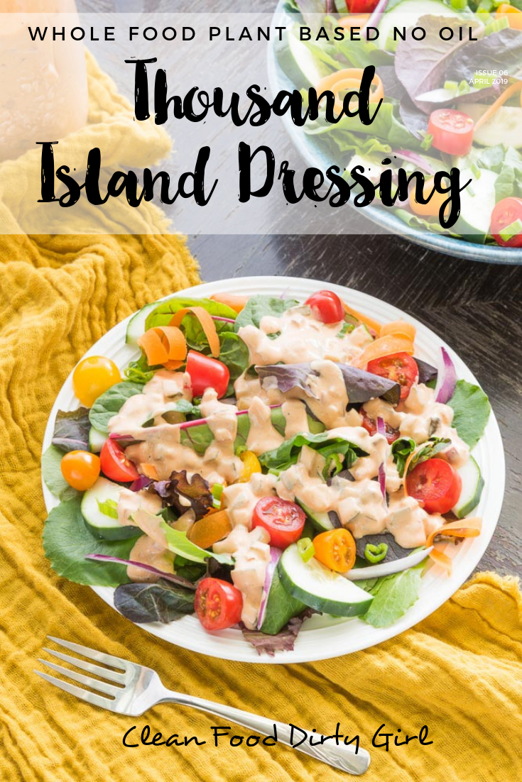 Plant Based Thousand Island Dressing No Oil