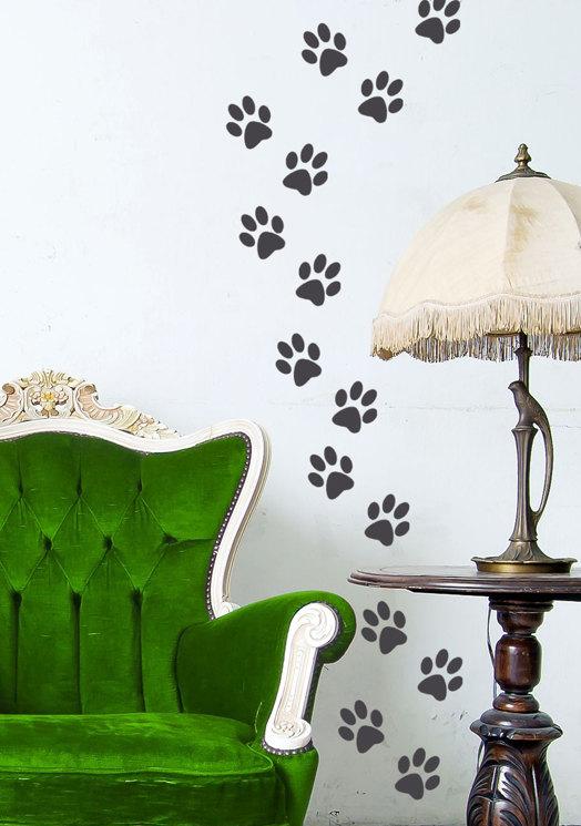 animal paw prints vinyl decal dog and cat tracksdandidecals
