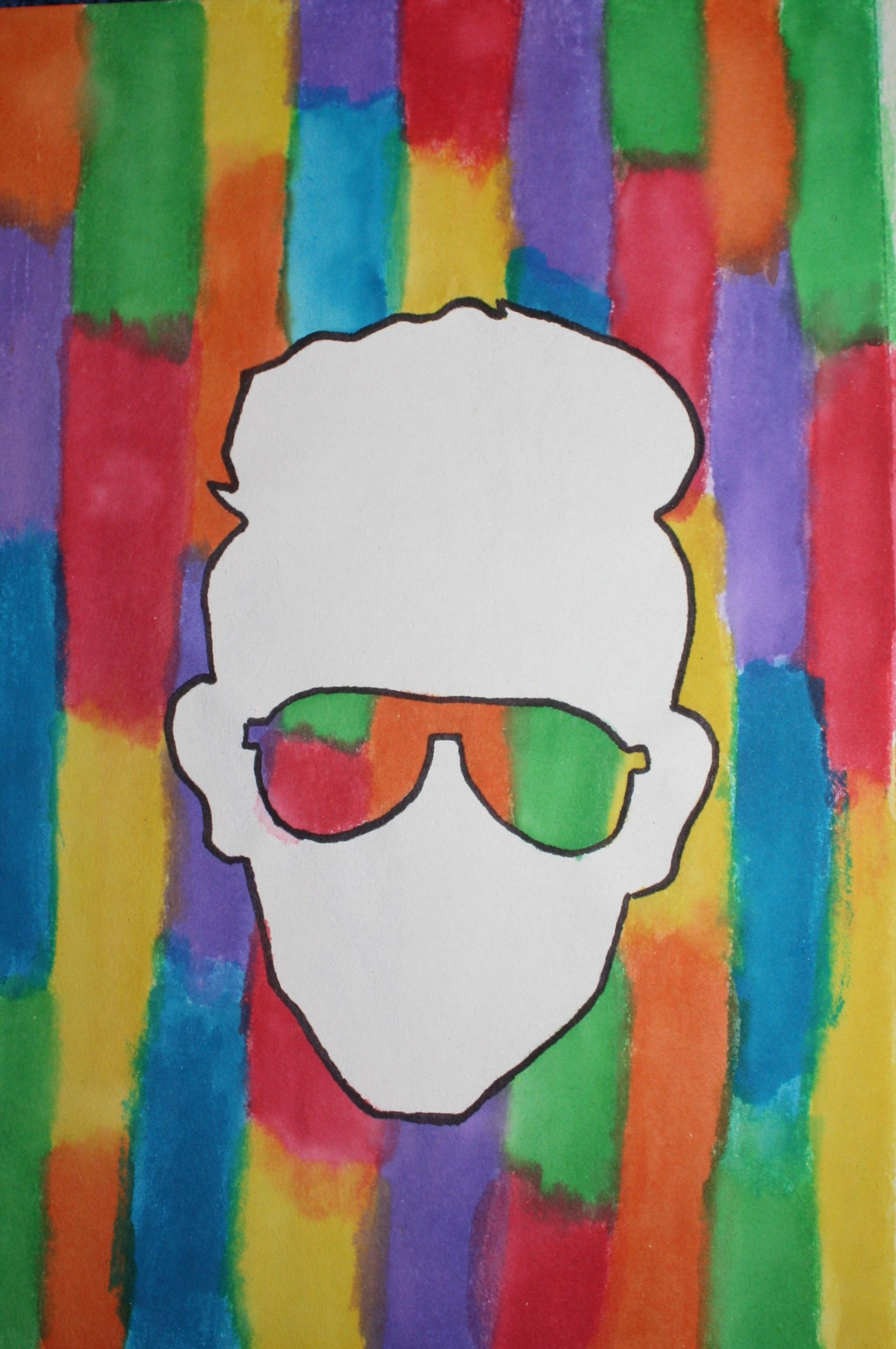 cool guy water color painting by Emily Love Painting