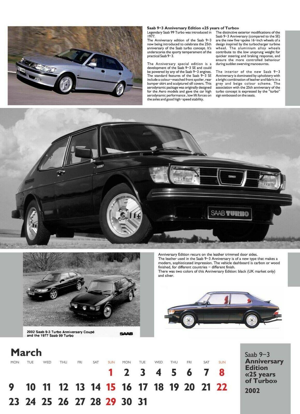 SAAB Special Editions Calendar 2020, SAAB 93 OG Saab
