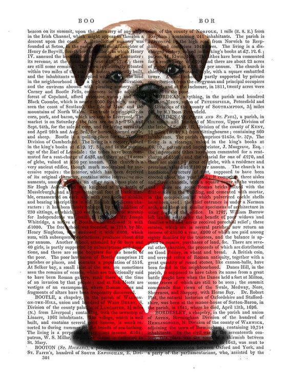 Red Buckets of Love Bulldog Puppy Wall Art Dog by FabFunky on Etsy, $12.00