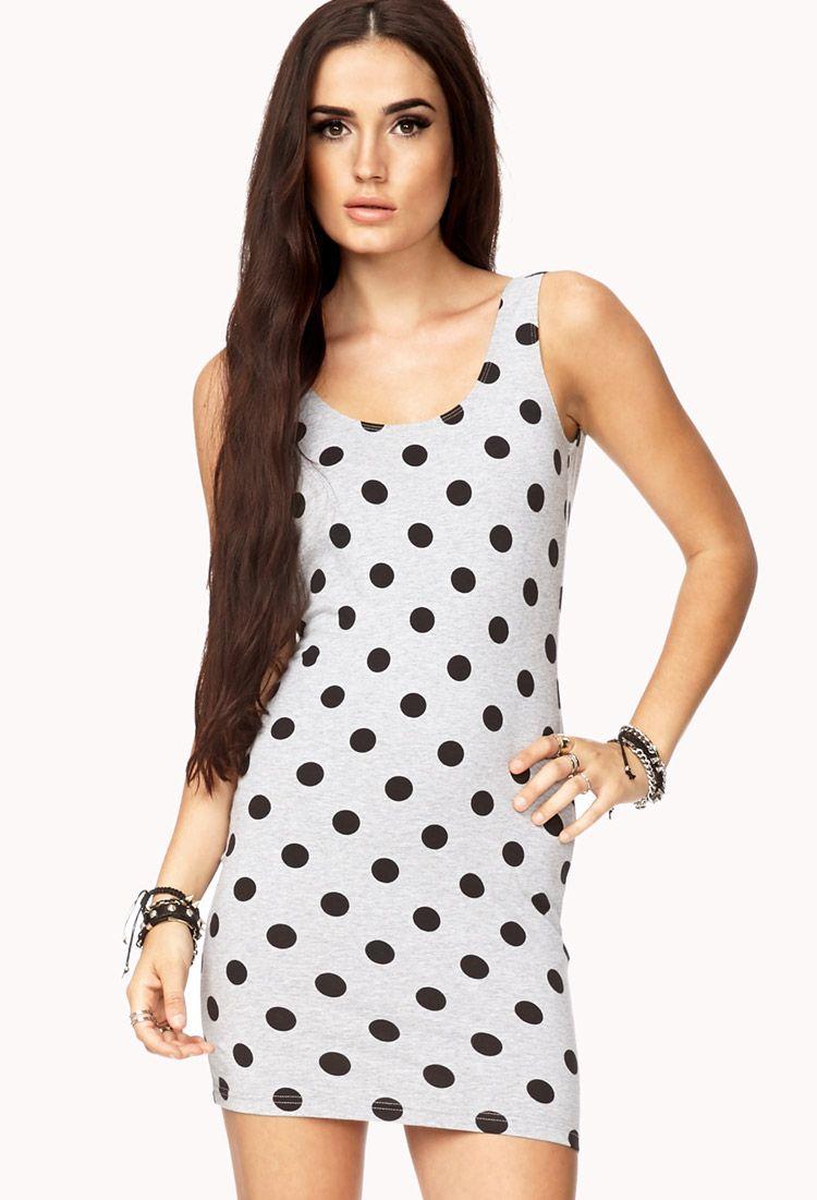 Sweet polka dot bodycon dress fashionlove
