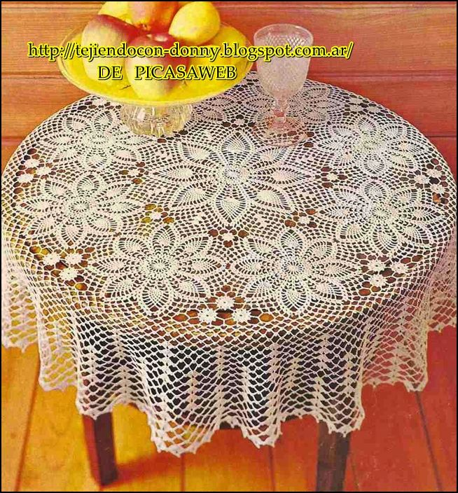 TEJIDOS A CROCHET - GANCHILLO - PATRONES: crochet round tablecloth ...