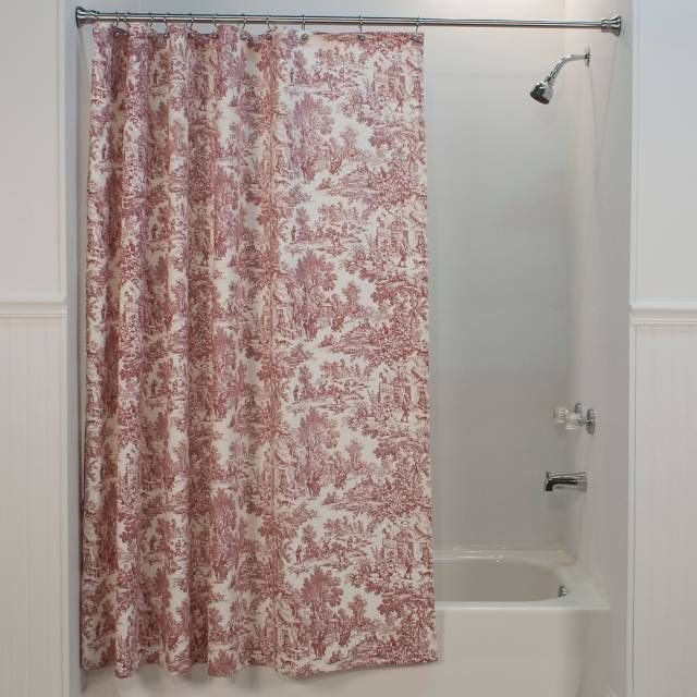 Country French Product Image For Victoria Park Toile Shower Curtain