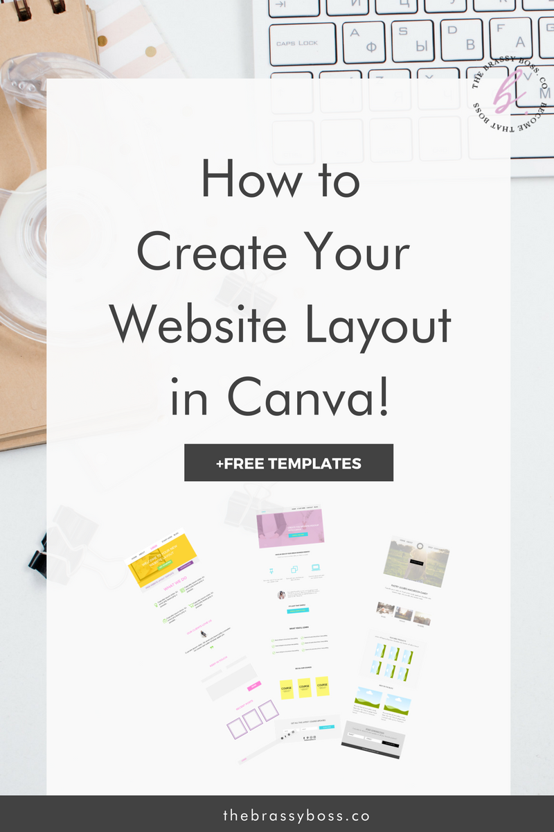 how to create website layouts using canva with free templates