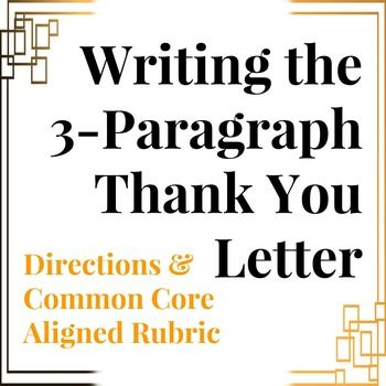 Thank You Letter Gratitude Letter Writing Prompt  Common Core